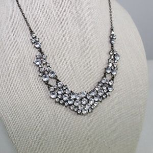 Claire's Black Crystal Necklace